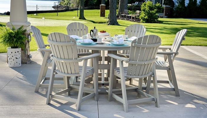 Berlin Gardens Recycled Poly Lumber Patio Furniture - Malibu outdoor furniture